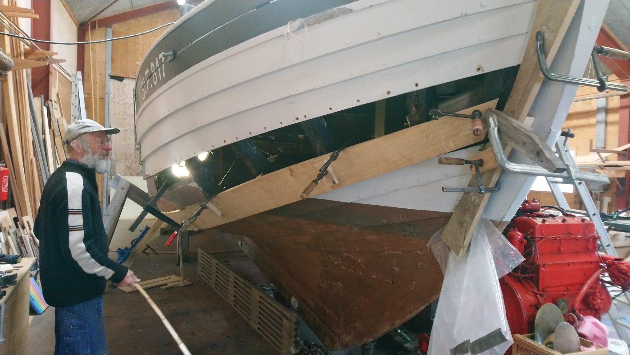 Skibet Træskib båd sejlads værft